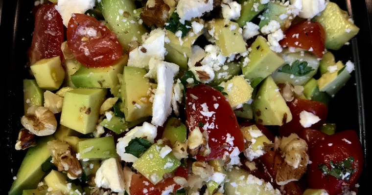 avocado, tomato and feta