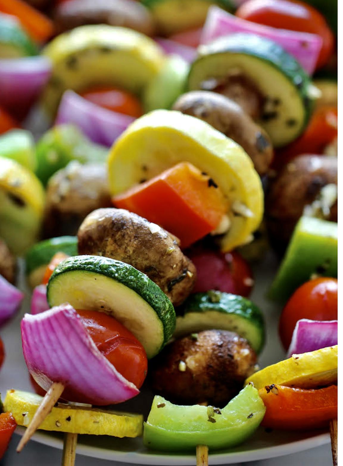 vegetable kabob
