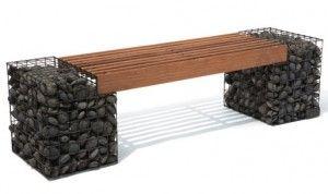 Realizzazione Panchina con Gabbioni Metallici per Giardini