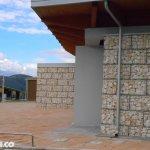 Gabbioni per Architettura per Sostegno Copertura in Legno