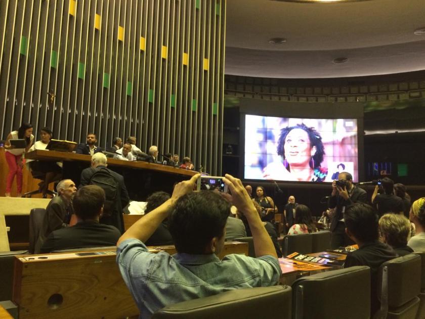 Sessão solene Marielle Franco