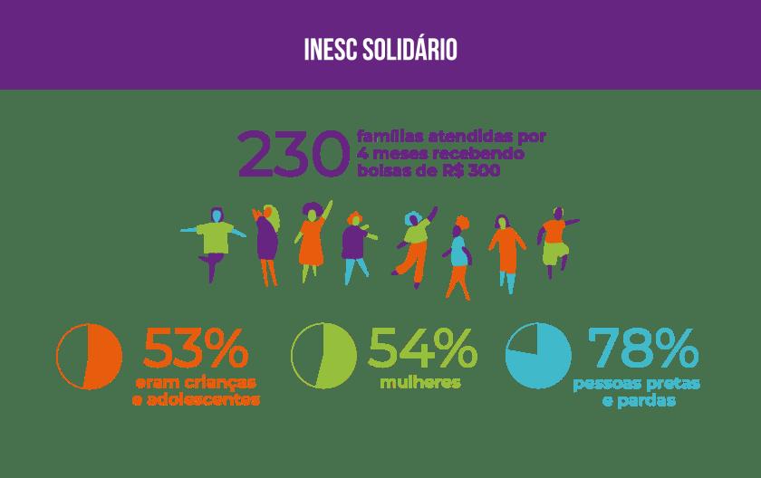 Inesc em números 2020, dados do inesc Solidário