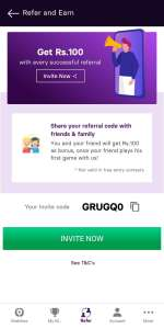 gamezy refer invite and promo code