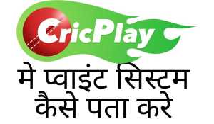 cricplay app me point system kaise pata kare
