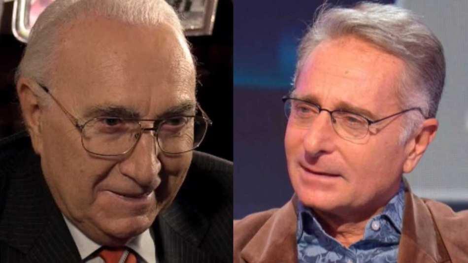I presentatori Pippo Baudo e Paolo Bonolis