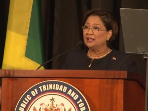 Chairperson, Trinidad and Tobago's Prime Minister Kamla Persad-Bissessar. [Photo: Shan Mohamed]