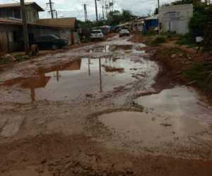 The state of the main road in the community.