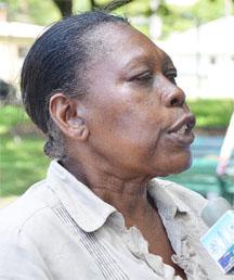 President of the University's Senior Staff Association, Dr Patsy Francis.
