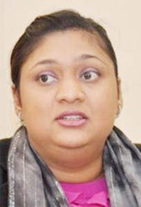 Education Minister, Priya Manickchand.