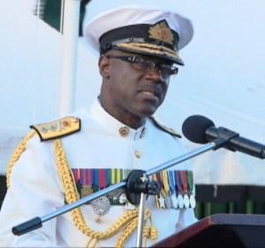 Rear Admiral Gary Best, during his farewell speech.