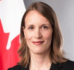 Canadian High Commissioner, Dr. Nicole Giles.