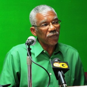 Leader of the APNU, David Granger. [iNews' Photo]