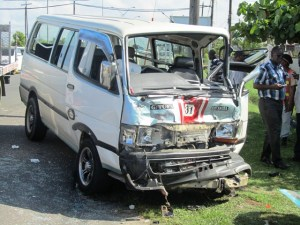 The state of the minibus. [iNews' Photo]