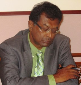 Leader of the AFC, Khemraj Ramjattan.