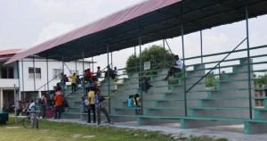 The new pavilion at Enmore, East Coast Demerara
