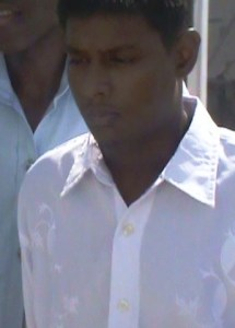 The truck driver during his Court appearance. [Ritish Bagwandin. [iNews' Photo]