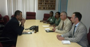 Minister Persaud, along with the team from Slovenia.