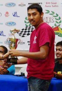 Paul Jiwanram ,12 Second Class Winner. [Photo: S.E.A.G. Productions]