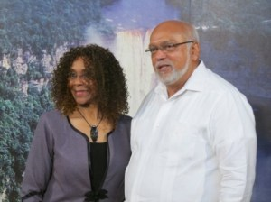 Newly appointed South African High Commissioner to Guyana Maureen Modiselle and President Donald Ramotar. [iNews' Photo]
