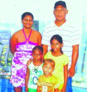 John Blanchard, his wife and the three children that he killed.