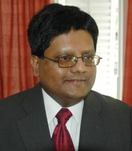 Finance Minister Dr. Ashni Singh