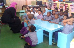 This lad in the foreground decided that the discussion with his teachers at the ISA Islamic School on East Street was so good and interesting that he needed to be off his seat and get a bit closer. [iNews' Photo]