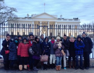 UG students visit the White House.