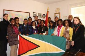 UG Students with Guyana Ambassador to US Karran.