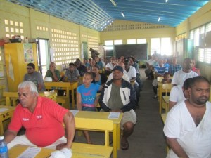 Bartica residents during the Town Hall meeting.