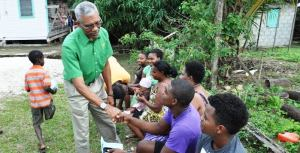 President David Granger meeting with youths last year.