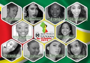 Miss World Guyana 2014 contestants