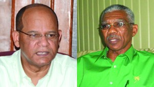 Home Affairs Minister, Clement Rohee and Leader of the Opposition, David Granger.