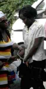 Abiola Jacob at the Georgetown Magistrate's Court. [iNews' Photo]