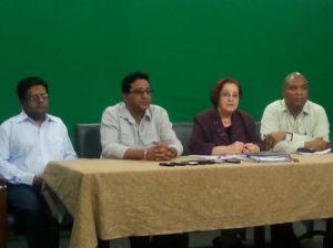 L - R: Ministers Dr. Ashni Singh, Anil Nandlall, Presidential Advisor Gail Teixeira and Minister Juan Edghill. [iNews' Photo]