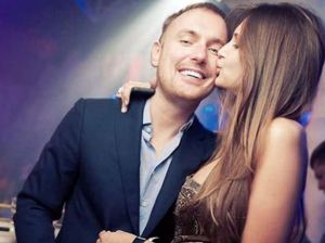 Telecommunications boss Pavel Ushanov pictured with Alexandra Sereda