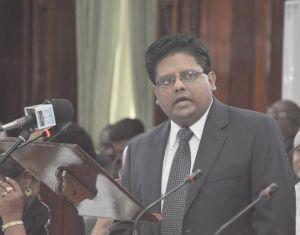 Minister of Finance, Dr. Ashni Singh