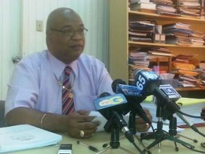 Former Chairman of the ERC, Juan Edghill during a press conference on Wednesday, March 26. [iNews' Photo]