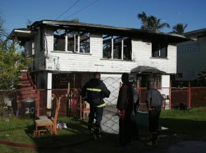 The gutted house. [iNews' Photo]