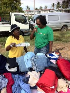 MP Annette Ferguson interacts with a resident