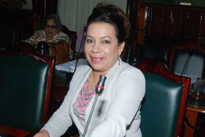 Former Minister of Foreign Affairs, Carolyn Rodrigues - Birkett.