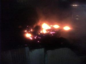 Seven persons are now homeless as a result of the fire. [iNews' Photo]