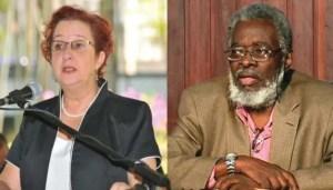 Presidential Advisor, Gail Teixeira and Cabinet Secretary, Dr Roger Luncheon.