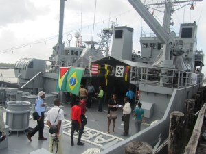 The Brazilian Navy Ship. [iNews' Photo]