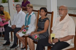 President Donald Ramotar with First Lady Deolatchmee Ramotar and the Cuban Ambassador to Guyana and his wife at the official Launch of the Guyana-Cuba Friendship Association