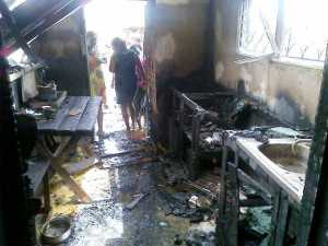 The burnt house. [iNews' Photo]
