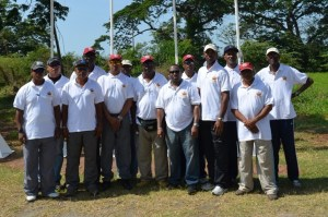 Guyana team at the opening ceremony.