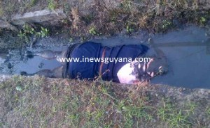 Marcelle Cummings' body in the drain. [iNews' Photo]