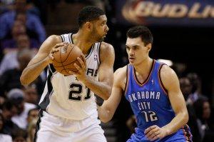 NBA: Playoffs-Oklahoma City Thunder at San Antonio Spurs
