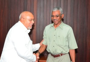 President Donald Ramotar and Leader of the Opposition, David Granger.