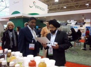 Visitors examining Guyana's agro-processed foods in Canada.